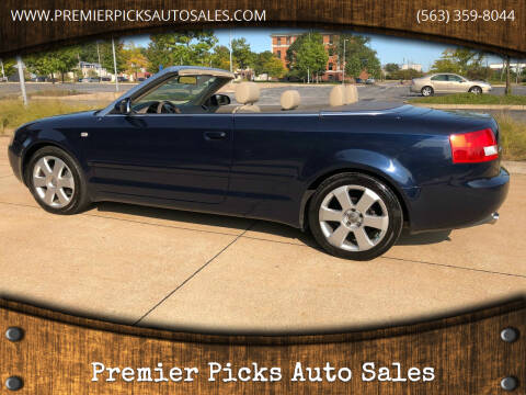 2004 Audi A4 for sale at Premier Picks Auto Sales in Bettendorf IA