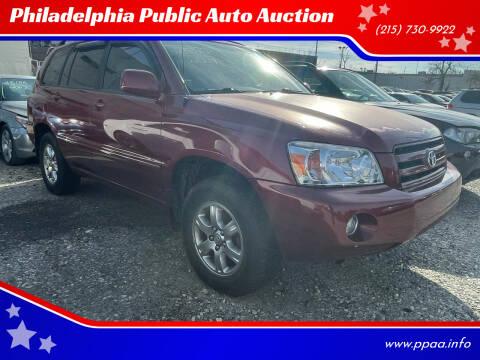 2007 Toyota Highlander for sale at Philadelphia Public Auto Auction in Philadelphia PA