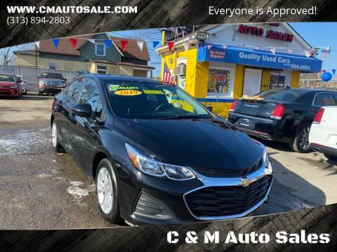 2019 Chevrolet Cruze for sale at C & M Auto Sales in Detroit MI
