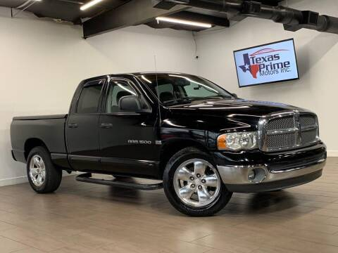 2002 Dodge Ram Pickup 1500 for sale at Texas Prime Motors in Houston TX