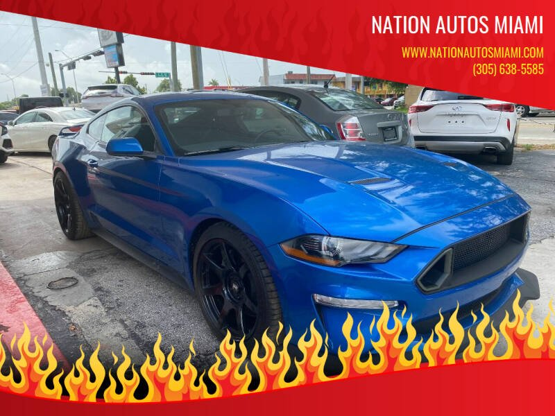 2019 Ford Mustang for sale at Nation Autos Miami in Hialeah FL