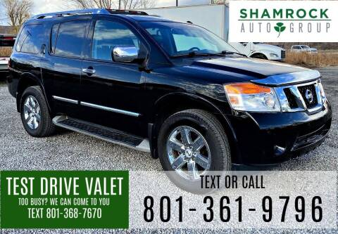 2012 Nissan Armada for sale at Shamrock Group LLC #1 in Pleasant Grove UT