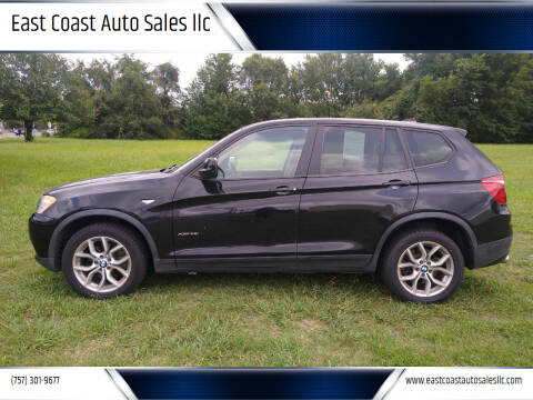 2011 BMW X3 for sale at East Coast Auto Sales llc in Virginia Beach VA