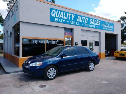 2007 Toyota Corolla for sale at QUALITY AUTO SALES OF FLORIDA in New Port Richey FL