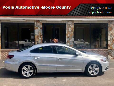 2015 Volkswagen CC for sale at Poole Automotive -Moore County in Aberdeen NC