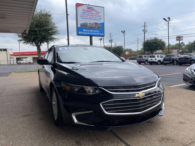 2016 Chevrolet Malibu for sale at Magic Auto Sales in Dallas TX
