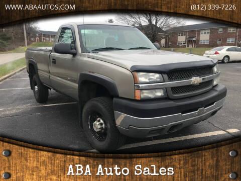2003 Chevrolet Silverado 2500HD for sale at ABA Auto Sales in Bloomington IN