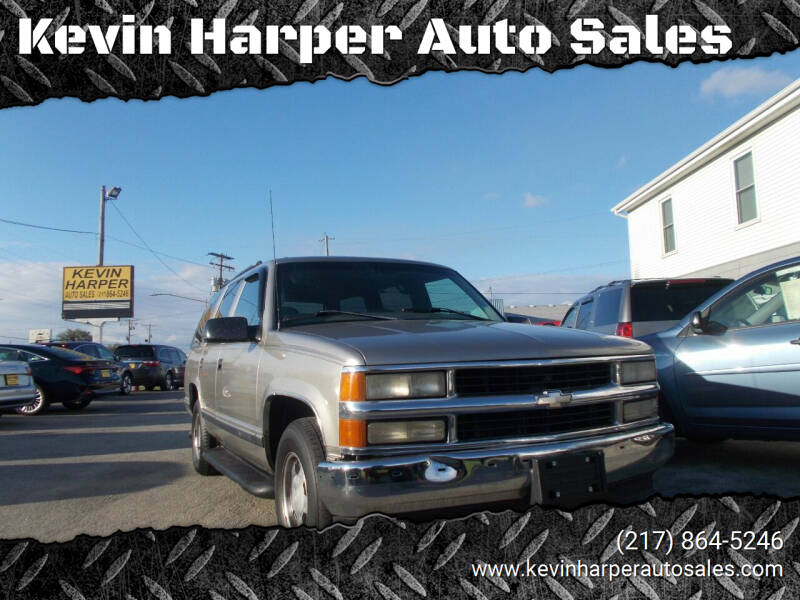 1999 Chevrolet Tahoe for sale at Kevin Harper Auto Sales in Mount Zion IL