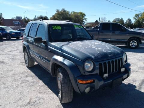 2002 Jeep Liberty for sale at Canyon View Auto Sales in Cedar City UT