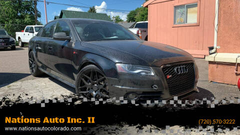 2010 Audi S4 for sale at Nations Auto Inc. II in Denver CO