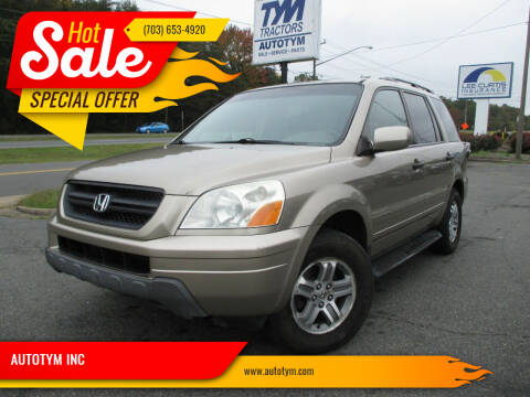 2005 Honda Pilot for sale at AUTOTYM INC in Fredericksburg VA