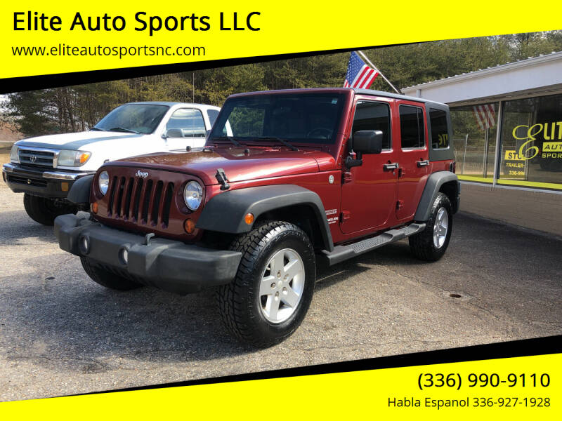 2010 Jeep Wrangler Unlimited for sale at Elite Auto Sports LLC in Wilkesboro NC