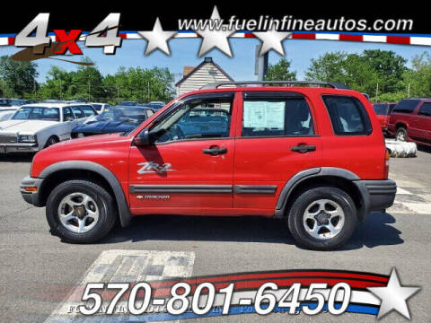 2002 Chevrolet Tracker for sale at FUELIN FINE AUTO SALES INC in Saylorsburg PA