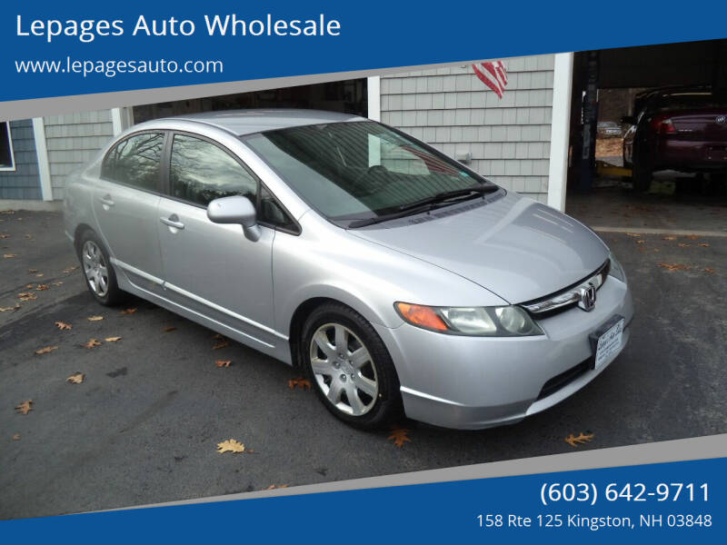 2008 Honda Civic for sale at Lepages Auto Wholesale in Kingston NH