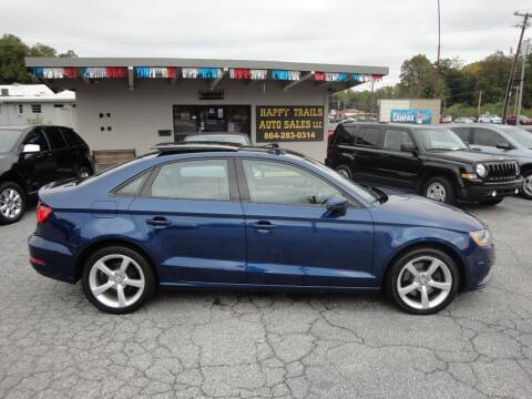 2016 Audi A3 for sale at HAPPY TRAILS AUTO SALES LLC in Taylors SC