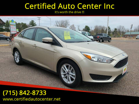 2017 Ford Focus for sale at Certified Auto Center Inc in Wausau WI