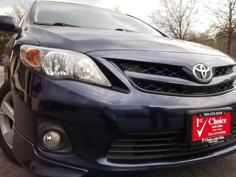 2012 Toyota Corolla for sale at 1st Choice Auto Sales in Fairfax VA