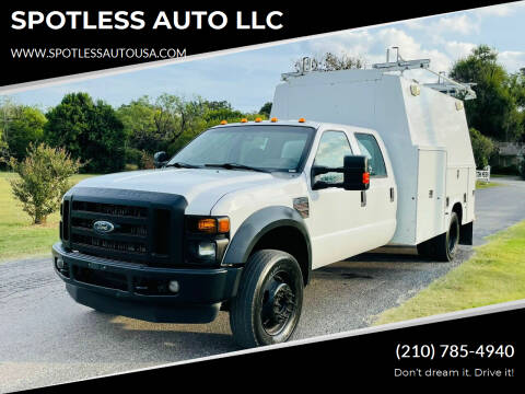 2010 Ford F-450 Super Duty for sale at SPOTLESS AUTO LLC in San Antonio TX