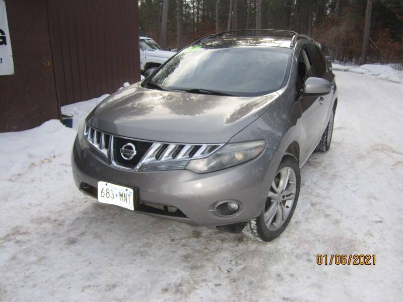 2009 Nissan Murano for sale at SUNNYBROOK USED CARS in Menahga MN