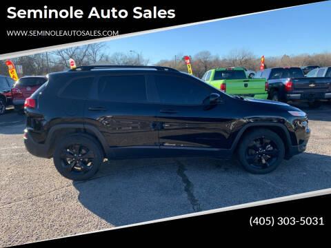 2018 Jeep Cherokee for sale at Seminole Auto Sales in Seminole OK