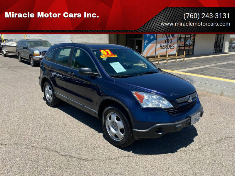 2007 Honda CR-V for sale at Miracle Motor Cars Inc. in Victorville CA