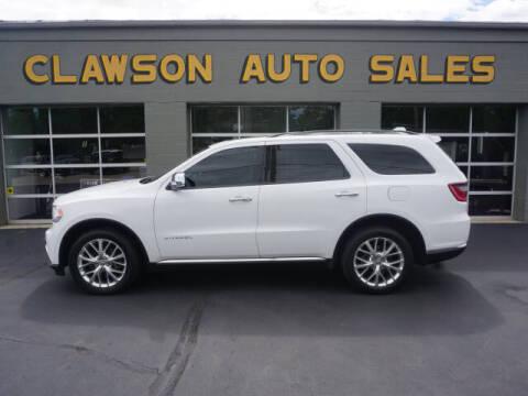 2015 Dodge Durango for sale at Clawson Auto Sales in Clawson MI