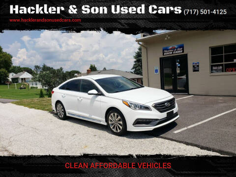 2015 Hyundai Sonata for sale at Hackler & Son Used Cars in Red Lion PA