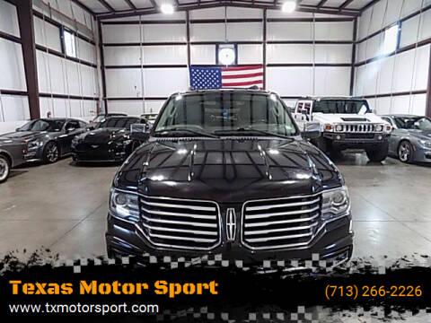 2015 Lincoln Navigator for sale at Texas Motor Sport in Houston TX