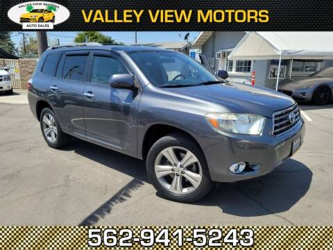 2008 Toyota Highlander for sale at Valley View Motors in Whittier CA