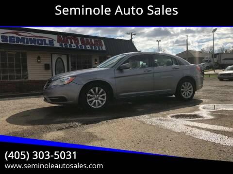 2013 Chrysler 200 for sale at Seminole Auto Sales in Seminole OK