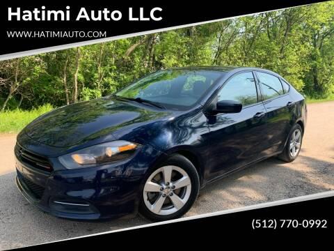 2015 Dodge Dart for sale at Hatimi Auto LLC in Buda TX