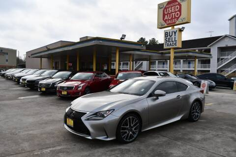 2017 Lexus RC 200t for sale at Houston Used Auto Sales in Houston TX