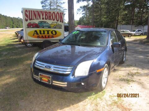 2007 Ford Fusion for sale at SUNNYBROOK USED CARS in Menahga MN