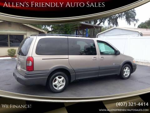 2004 Pontiac Montana for sale at Allen's Friendly Auto Sales in Sanford FL