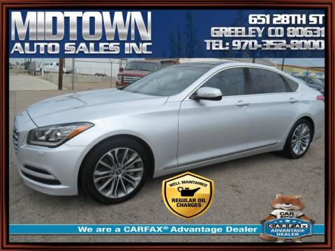 2015 Hyundai Genesis for sale at MIDTOWN AUTO SALES INC in Greeley CO