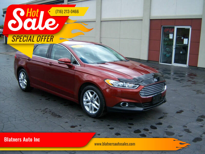 2014 Ford Fusion for sale at Blatners Auto Inc in North Tonawanda NY