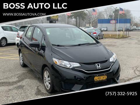 2016 Honda Fit for sale at BOSS AUTO LLC in Norfolk VA