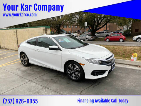 2016 Honda Civic for sale at Your Kar Company in Norfolk VA