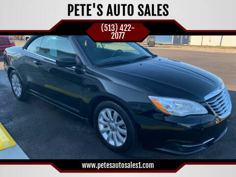 2012 Chrysler 200 Convertible for sale at PETE'S AUTO SALES - Middletown in Middletown OH