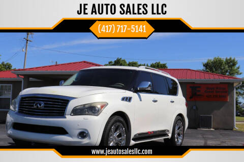 2012 Infiniti QX56 for sale at JE AUTO SALES LLC in Webb City MO