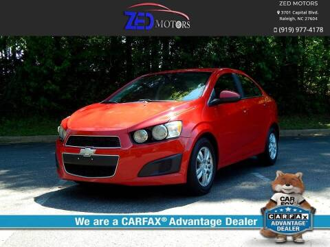 2012 Chevrolet Sonic for sale at Zed Motors in Raleigh NC