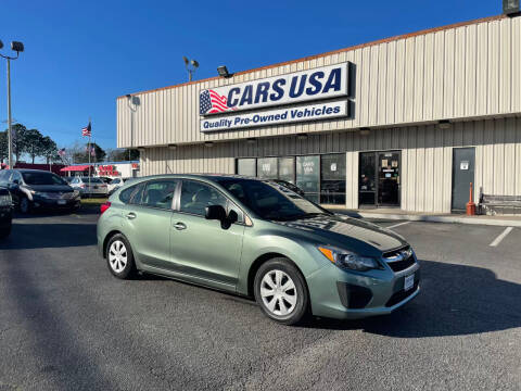 2014 Subaru Impreza for sale at Cars USA in Virginia Beach VA