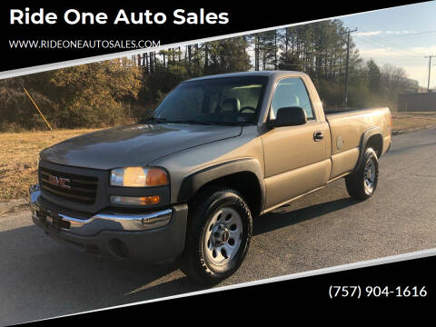2005 GMC Sierra 1500 for sale at Ride One Auto Sales in Norfolk VA