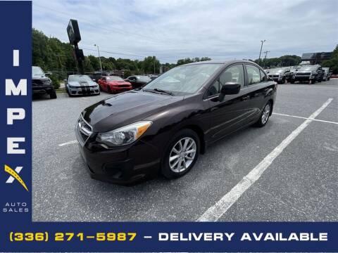 2012 Subaru Impreza for sale at Impex Auto Sales in Greensboro NC