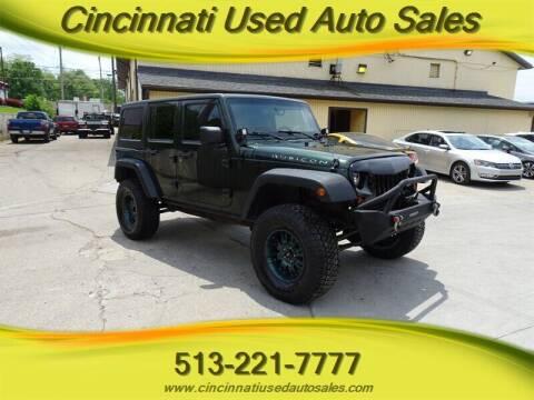 2010 Jeep Wrangler Unlimited for sale at Cincinnati Used Auto Sales in Cincinnati OH