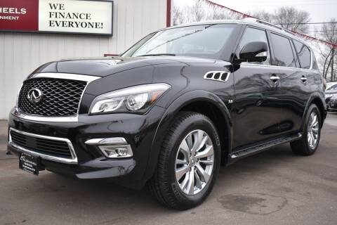 2017 Infiniti QX80 for sale at Dealswithwheels in Inver Grove Heights MN