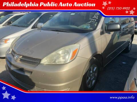 2004 Toyota Sienna for sale at Philadelphia Public Auto Auction in Philadelphia PA