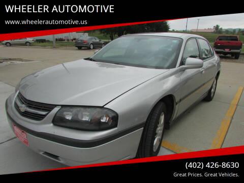 2005 Chevrolet Impala for sale at WHEELER AUTOMOTIVE in Blair NE