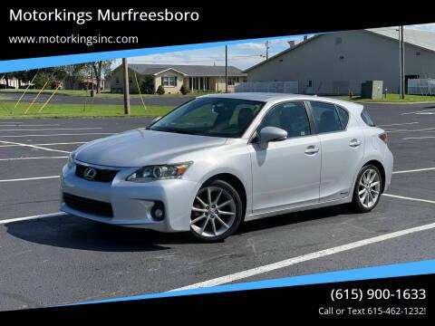 2012 Lexus CT 200h for sale at Motorkings Murfreesboro in Murfreesboro TN