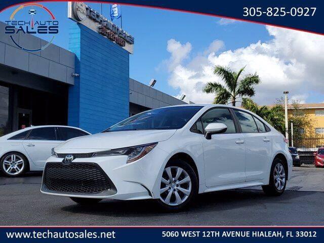 2020 Toyota Corolla for sale at Tech Auto Sales in Hialeah FL